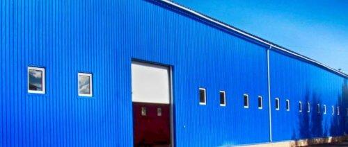 Профнастил НС-10 применение на фасад 5005 синий ультрамарин